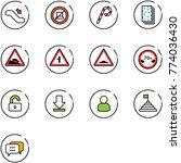 line vector icon set  ... | Shutterstock .eps vector #774036430