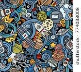 cartoon cute doodles space... | Shutterstock .eps vector #774038008