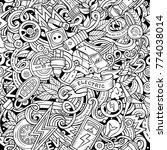 cartoon cute doodles electric... | Shutterstock .eps vector #774038014