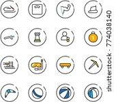 line vector icon set  ... | Shutterstock .eps vector #774038140