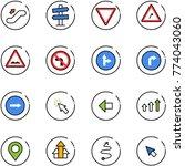 line vector icon set  ... | Shutterstock .eps vector #774043060