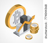 bitcoin web icon   Shutterstock .eps vector #774044368