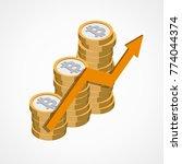 bitcoin web icon   Shutterstock .eps vector #774044374
