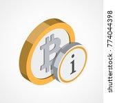 bitcoin web icon   Shutterstock .eps vector #774044398