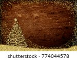 christmas greeting card rustic... | Shutterstock . vector #774044578