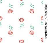 red roses. seamless vector... | Shutterstock .eps vector #774050500