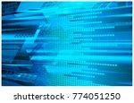 binary circuit board future...   Shutterstock .eps vector #774051250