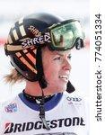 Small photo of St. Moritz, Switzerland. December 9, 2017. FIS Ski World Cup 2017. Ladies Slalom and Super-G. Lara Gut, Switzerland.