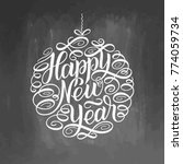 happy new year  lettering... | Shutterstock .eps vector #774059734