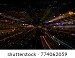 lsd lights warp in space | Shutterstock . vector #774062059