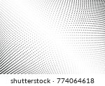 abstract halftone wave dotted... | Shutterstock .eps vector #774064618