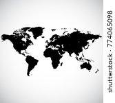 blank detailed black world map... | Shutterstock .eps vector #774065098
