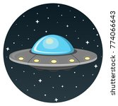 ufo flat design icon isolatd on ...   Shutterstock .eps vector #774066643