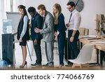 side view of businesspeople...   Shutterstock . vector #774066769