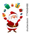 merry christmas juggles with... | Shutterstock .eps vector #774068488