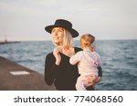 mother and daugther spending... | Shutterstock . vector #774068560