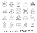 poster with set of bakery and... | Shutterstock .eps vector #774069028
