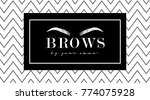 beautiful hand drawing eyebrows ... | Shutterstock .eps vector #774075928