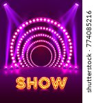 show light podium purple... | Shutterstock .eps vector #774085216