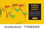forex trading indicators vector ... | Shutterstock .eps vector #774085609