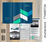 blue brochure template design...   Shutterstock .eps vector #774085726