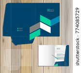 blue folder template design for ... | Shutterstock .eps vector #774085729