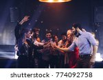 group of friends having fun at... | Shutterstock . vector #774092758