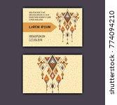 vector ethnic business card... | Shutterstock .eps vector #774094210