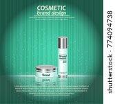 3d realistic cosmetic bottle... | Shutterstock .eps vector #774094738