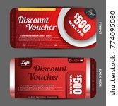 vector discount voucher on the... | Shutterstock .eps vector #774095080