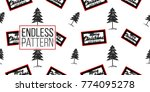 vector big forest fir and merry ... | Shutterstock .eps vector #774095278