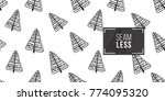 vector decorative christmas fir ... | Shutterstock .eps vector #774095320