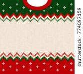 ugly sweater merry christmas... | Shutterstock .eps vector #774097159