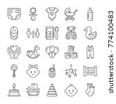 baby icons set. line style | Shutterstock .eps vector #774100483