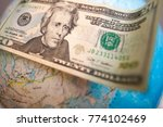 global currency dollars against ... | Shutterstock . vector #774102469