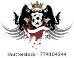 heraldic wolf soccer f tbol... | Shutterstock .eps vector #774104344