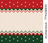 ugly sweater merry christmas... | Shutterstock .eps vector #774108850