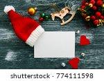 christmas mood concept.... | Shutterstock . vector #774111598