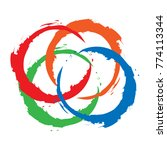 circle colorful frame icon | Shutterstock .eps vector #774113344