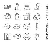 unit of measurement icon set.... | Shutterstock .eps vector #774113533