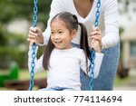 mom is playing with her little... | Shutterstock . vector #774114694