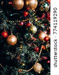 christmas decorations on the... | Shutterstock . vector #774119290