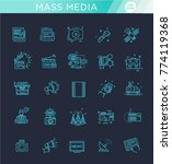 tv and media news vector icons...   Shutterstock .eps vector #774119368