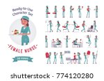 female nurse ready to use... | Shutterstock .eps vector #774120280