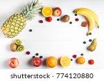 white table overhead view fresh ... | Shutterstock . vector #774120880