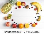 white table overhead view fresh ... | Shutterstock . vector #774120883