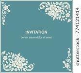 invitation template  background ... | Shutterstock .eps vector #774121414