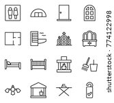 thin line icon set   wc ... | Shutterstock .eps vector #774122998