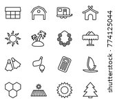 thin line icon set   market ... | Shutterstock .eps vector #774125044