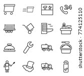 thin line icon set   delivery ...   Shutterstock .eps vector #774125110